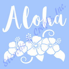 ALOHA STENCIL HIBISCUS FLOWERS FLOWER STENCILS TEMPLATE LEAF ART PAINT CRAFT NEW