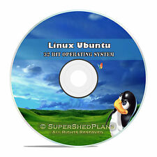 Linux Ubuntu 32 Bit 2016 Operating System DVD 16.04, Easy Windows Replacement OS