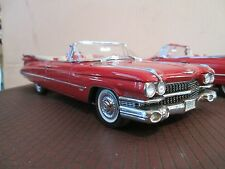 1959 Cadillac 59 red convertible 1 Danbury Mint 1:24 Scale  NO BOX paint issues