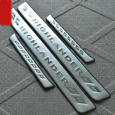 Stainless Steel High Quality Door Sill Scuff Plate For Toyota Highlander 2008-13
