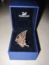 Authentic Swarovski Butterfly Wing Ring, GOLD TONE SIZE 55 PAVE CRYSTAL