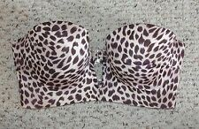 VICTORIA'S SECRET VERY SEXY PLUNGE LONG LINE BANDEAU BIKINI SWIM SUIT TOP sz 36D