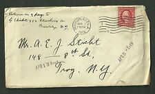 1912 M. Barkas Souvenirs Cover With Letter 25th Anniversary Sale