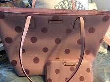AUTHENTIC KATE SPADE LEATHER HANI HAVEN LANE PINK GLITTER DOTS HANDBAG + WALLET