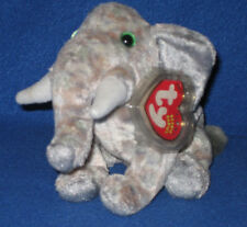TY POUNDS the ELEPHANT BEANIE BABY - MINT with MINT TAGS