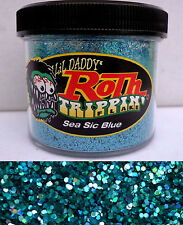 Lil Daddy Roth Metal Flake See Sic Blue trippin prismatic 2oz Jar Hot Rod Custom