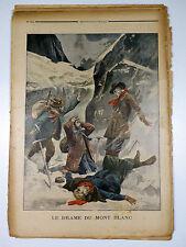 PETIT JOURNAL 1894-1913 Lot 12 n° ALPINISME Montagne MONT-BLANC Chasseurs Alpins