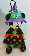 MInnie Mouse Halloween Witch Plush Wall Decor Table Ornament DISNEY Park Gift