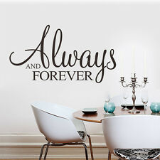 Always and Forever Vinyl Removable Decal Art Mural Home Decor Wall Stickers
