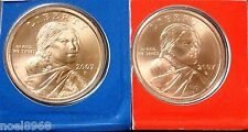 2007-P+D SACAGAWEA GOLDEN DOLLARS IN SEALED CELLOPANE UNCIRCULATED
