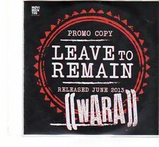 (FT243) Wara, Leave To Remain - 2013 DJ CD
