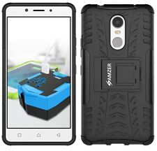 AMZER Dual Layer Hybrid Warrior Shockproof Case Stand For Lenovo K6 Note - Black