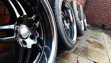 "18"" Ruff Racing ALLOYS Wheels 5x114 Drift R32 Silvia ROTA Advan 9.5j Lexus is200"