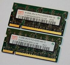 HYNIX Laptop 1GB DDR2 PC4200 RAM 2 X 512MB Sticks V000061770 Pair PC2-4200S
