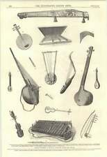1870 Musical Instruments South Kensington Museum Chinese Japanese Arab Egyptian