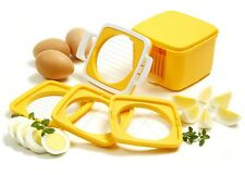 NORPRO 960 Multi Egg Slicer 5 Piece Set, Silice Dice Wedge With Storage Case