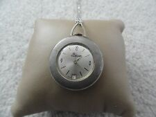 Vintage Swiss Made Lady Nelson Wind Up Necklace Pendant Watch