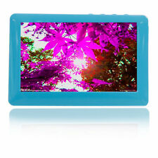 "16GB 4.3"" LCD Touch Screen MP4 Player FM Radio Voice Recorder USB TF Slot Blue"