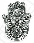 HAMSA HAND Sticker for Skateboard Snowboard Scooter BMX Guitar Phone Laptop Case