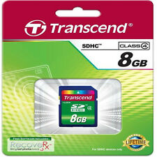 Transcend 8GB SDHC SD Sicurezza Digitale Scheda Di Memoria Classe 4