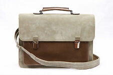 NWT.$3895 Brunello Cucinelli Mens 2-Tone Leather Gusseted Shoulder Bag+Briefcase