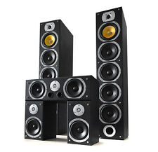 DELUXE 1240W BLACK SURROUND SOUND HOME CINEMA TOWER SPEAKER SYSTEM SET