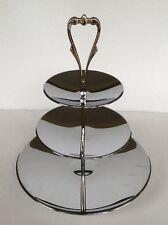 Vtg Kromex Triple Three 3 Tier Tidbit Tray Stand Dessert Cupcake Serving Stand