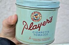 Vintage Players Cigarette Tobacco Round Tin Can Sign Display