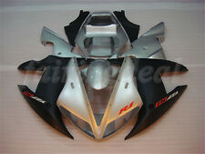 Silver Matte Black Fairing Fit for Yamaha YZF R1 2002 2003 Injection Plastic a03