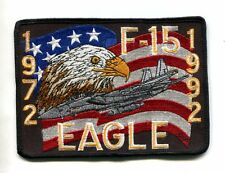 McDONNELL DOUGLAS F-15 EAGLE 20th ANNIV 1972 1992 USAF Fighter Squadron Patch