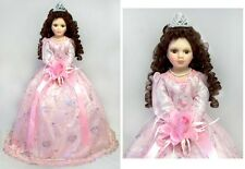 "Quinceanera Dolls - 15 Dolls - Spanish Dolls 22"" - Pink Dress ( # EQDoll22)"