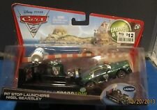 DISNEY PIXAR CARS 2  PIT STOP LAUNCHERS NIGEL EARSLEY DIE-CAST RACERS