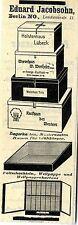 Eduard Jacobsohn Berlin FALTSCHACHTELN Historische Reklame 1912