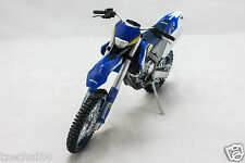 Joy City 1:12 DIECAST 2011 Husaberg FE 450 Motorcycle Blue Model COLLECTION New