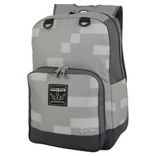 NEW Mojang Block MINECRAFT Miner Grey Stone  Bag School Laptop Backpack Travel