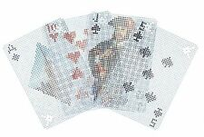 Kikkerland PIXEL Transparent Waterproof Poker Size Playing Cards GG79 see thru