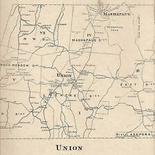 Union Mashapaug CT 1869  Map with Homeowners Names Shown