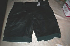 "NWT! DIESEL $795 MENS/WOMENS LAMBSKIN LEATHER BLACK ""SINKER"" SHORTS SIZE IT 38"