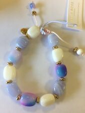 Lola Rose Angel Bracelet Blue Lace Agate, White Sandstone New, Gift Pouch