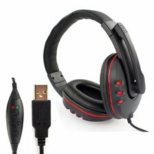 USB Gaming Stereo Mic Headset Headphones With Noise Canceling For PC Sony PS3 4
