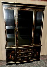 MASTERPIECE BY HICKORY CHINA CABINET Painted Floral Asian Style Display VINTAGE