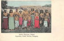 GRAN CHACO, PARAGUAY ~ CHILDREN & SEMI-NUDE INDIAN WOMEN ~ used 1912