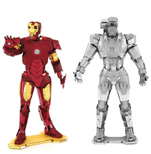 Set of 2 Metal Earth 3D Steel Model Kits Marvel Avengers Iron Man + War Machine