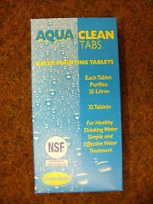 AquaTabs Water Treatment Purifyer Clean Drinking Water x32 tablets steriliser