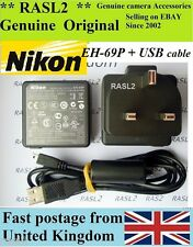 Genuine NIKON EH-69P AC Adaptador CoolPix S70 S80 S100 S1200pj P100 S5100 S6000 UK