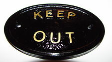 """""""KEEP OUT"""" - HOUSE DOOR PLAQUE WALL/GATE SIGN GARDEN KEEP UNWANTED VISITORS AWAY"""