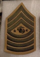 USMC RANK CHEVRON,SERGEANT MAJOR OF THE MARINE CORPS, KHAKII LARGE,