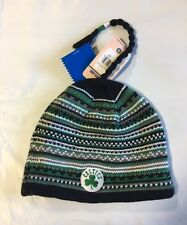 Boston Celtics Knit Beanie Toque Skull Cap Winter Hat NEW NBA Stripes with Braid