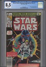 Marvel Movie Showcase #1 CGC 8.5 1982 Star Wars #1-3 Reprinted :  NEW Frame Nice