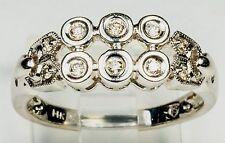 BEZEL SET TWO ROW DIAMOND RING 1/4C TW